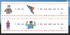 Alphabet Strips (Superhero)