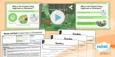 PlanIt - RE Year 2 - Nature and God Lesson 2: Creation Story 2 (Christianity) Lesson Pack