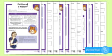 * NEW * KS2 Pet Care of a Hamster Differentiated Comprehension Go Respond  Activity Sheets
