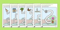 Garden Pencil Control Path Worksheets Arabic Translation