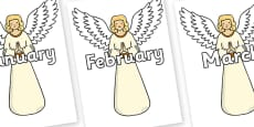 Months of the Year on Christmas Angels