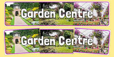 Garden Centre Photo Display Banner