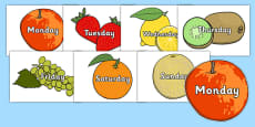 Days of the Week on Fruit
