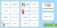 * NEW * Sports Vocabulary Matching Cards Spanish