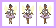 A-Z Alphabet on Fairies