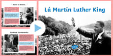 Martin Luther King Day Assembly PowerPoint - Gaeilge