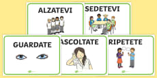 Italian Class Management Display Signs