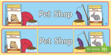 Pet Shop Display Banner