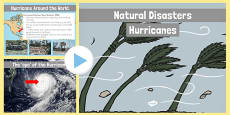 Natural Disasters Hurricanes Information PowerPoint