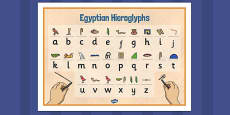 Egyptians Hieroglyphs Word Mat