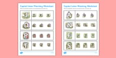 Beatrix Potter - The Tale of Tom Kitten Themed Capital Letter Matching Worksheet