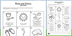 Summer Read and Colour Activity Sheet Chinese Mandarin Translation