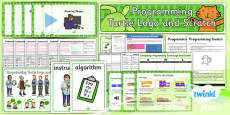 PlanIt - Computing - Year 2 - Programming Turtle Logo and Scratch Unit Pack