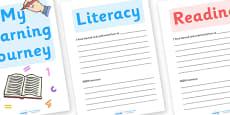 My Learning Journey Folder Headers