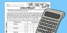 Lottery Winner Accounting Template Worksheet