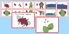 The Grouchy Ladybug Story Sequencing Cards