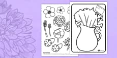 Mother's Day Flower Bouquet Coloring Activity