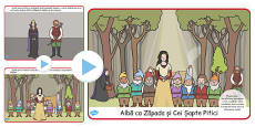 Snow White And The Seven Dwarves Story PowerPoint Romanian