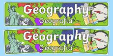 Geography Display Banner Polish Translation