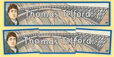 Scottish Significant Individuals Thomas Telford Display Banner