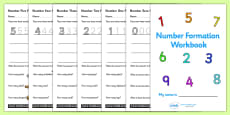 Number Formation Workbook (0-20)