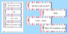 French Cafe Waiter/Waitress Cards