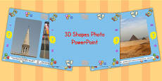 EYFS 3D Shape Photo PowerPoint