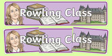 Rowling Class Display Banner