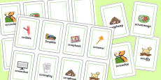 Two Syllable SCR Flash Cards
