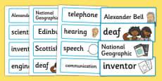 Alexander Bell Word Cards