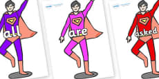 Tricky Words on Superheroes (Multicolour)