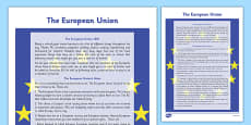 The European Union Information Sheet