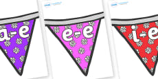 Modifying E Letters on Bunting (Flowers2)