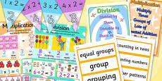 Multiplication and Division Display Pack KS1