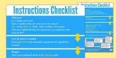 Instruction Check List