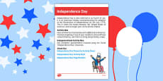 Elderly Care Calendar Planning July 2016 American Independence Day