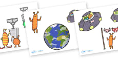 Story Cut-Outs to Support Teaching on Aliens Love Underpants