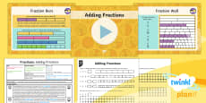 PlanIt Y4 Fractions Add and Subtract Fractions (1) Lesson Pack