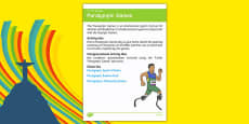 Elderly Care Calendar Planning September 2016 Paralympic Games