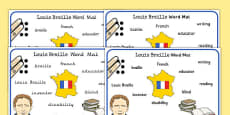 Louis Braille Word Mat