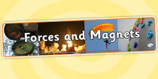 Forces and Magnets Photo Display Banner