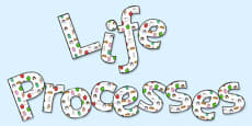 'Life Processes' Display Lettering