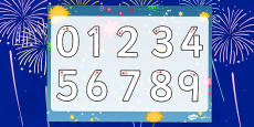 Bonfire Night Number Formation Worksheet