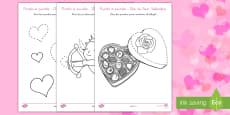 Ficha de actividad: Punto a punto - Día de San Valentín