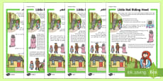 Little Red Riding Hood Traditional Tales Differentiated Reading Comprehension Activity English/Arabic