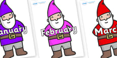 Months of the Year on Gnomes