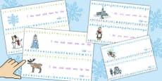 The Snow Queen Alphabet Strips