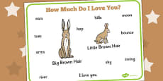 How Much Do I Love You? Word Mat