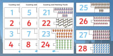 Superhero Themed Counting Matching Puzzle