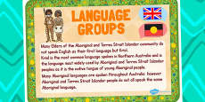 Australia - Aboriginal and Torres Straight Islander People Language Poster